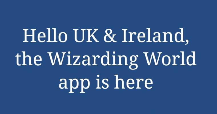 Wizarding World App Now Available